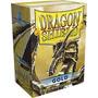 Dragon Shield Dourado - Gold 100 Unidades.
