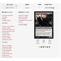 Deck Magic Vampiros Red / Black Com Lista