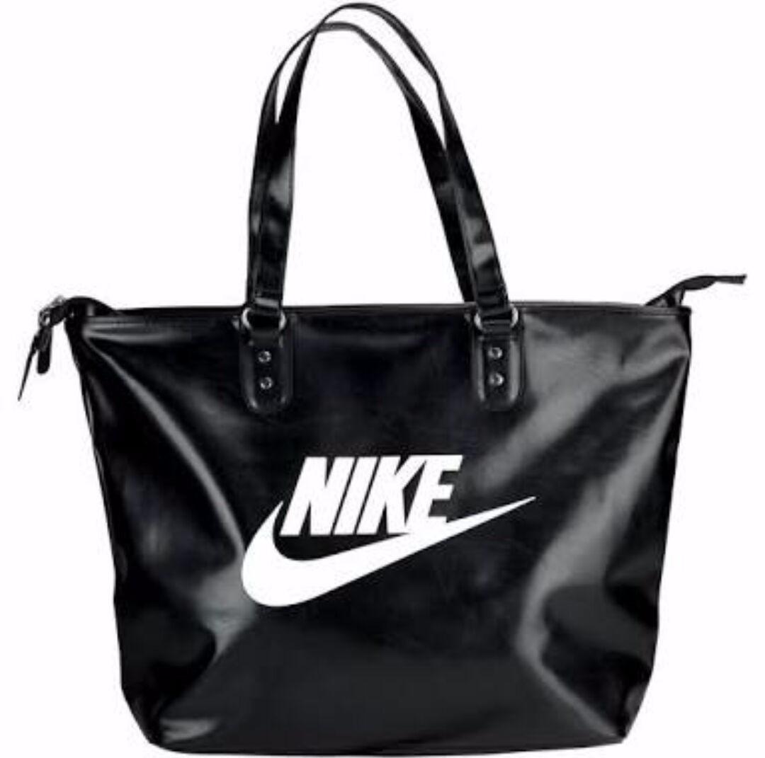 Bolsa Feminina De Couro Nike : Mala bolsa nike couro original feminina r