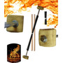 Malabares Devil Stick De Fogo Fire -by Lady Flame Pirofagia
