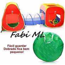 Toca Infantil 3 Em 1 Com Tunel + 100 Bolinhas