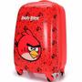 Mala De Viagem Pequena Abs Fibra Angry Birds Giratória 360º