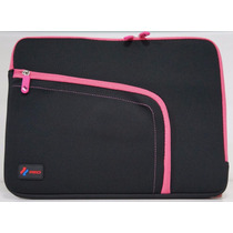 Case/capa/estojo Para Notebook/laptop Red Preto/rosa 13.3