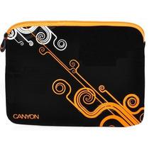 Capa Case Proteção Para Netbook 10 A 12 - Black Orange