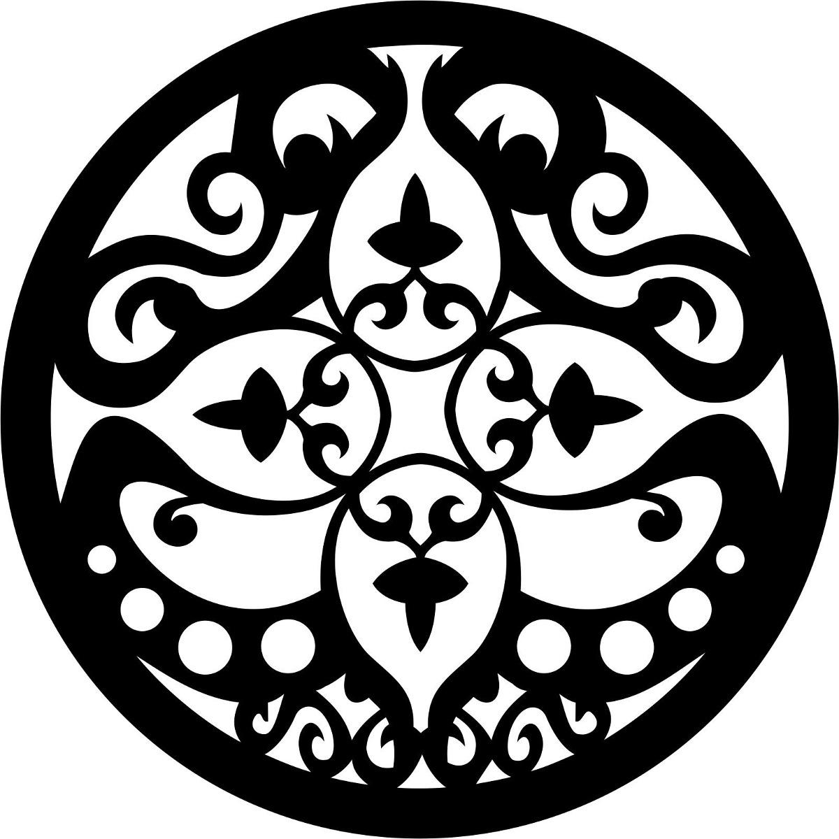 Mandala Mdf Decorativa Quadro Escultura Parede Recorte 50cm R$ 18 90  #666666 1200x1200
