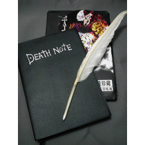 Kit Caderno Death Note + Caneta Pena + Cd + Colar