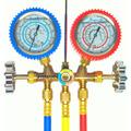 Manifold R404 R22 R134 R12 Mangueiras 90 Cm Com Glicerina