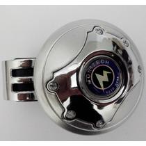 Manopla Mini Volante Pomo Giratório Prata Cromada Type R