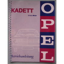 Manual Opel Kadett 1.1ltr. - 1967 - Frete Grátis -