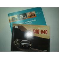 Manual Volvo S40 V40 1998 Original Proprietario Sedan Wagon