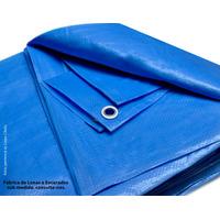Lona 10 X 8 Azul Plastica Impermeavel Festa Telhado Multiuso
