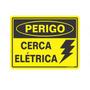 Placa De Sinalização Em Pvc Cerca Elétrica - Sinalize