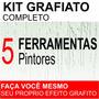 Kit Grafiato Completo Com Risca Facil Textura Efeito Riscado