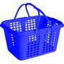 Cestinha Cesta Plástica De Mercado Loja Farmácia Azul Malta