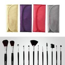 Kit Estojo Pincel De Maquiagem 12 Pincéis Makeup Macrilan