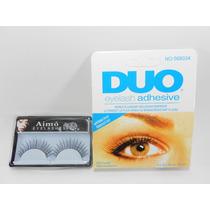 Cola Cílios Postiços Duo E Cílios Postiços Olhos Maquiagem
