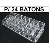 Porta Batom Em Acrílico Com 24 Divisorias - Pronta Entrega