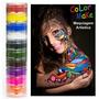 Tinta 10 Cores Cremosas Maquiagem Artistica Pinta Cara Color