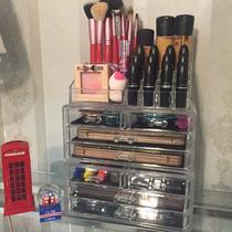 Porta Maquiagem Batom Pincel Organizador Acrílico 8 Gavetas