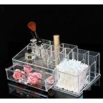 Organizador Porta Maquiagem Pincel Batom Acrilico C/ Gavetas