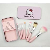 Hello Kitty Com 7 Pinceis- Kit A Pronta Entrega Ross