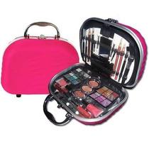 Maleta Maquiagem Completa. Fenzza Rosa Pink - 48 Itens!