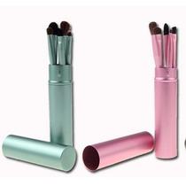 Conjunto De Pincéis Para Maquiagem, Sombra, Verde Ou Rosa