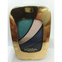 Sombra Loreal 4 Cores Colour Riche #211 Blue Haute Couture