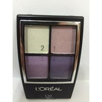 Estojo Sombra Loreal 4 Cores #520 Violets Tons De Violeta
