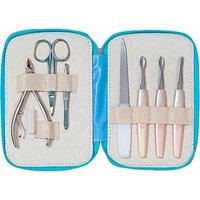 Kit Conjunto Manicure 7 Pecas Mundial (azul) Completo