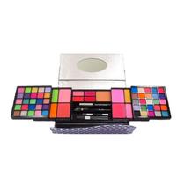 Kit Carteira Maquiagem Sombra 3d Completo 65 Itens V219a