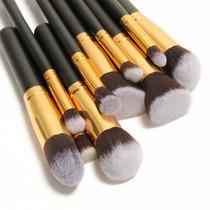 Kit De Pincéis Maquiagem10 Peças Profissional Sigma Kabuki