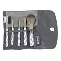 Mini Kit C/ 5 Pincéis P/ Maquiagem E Bolsa Macrilan Linha W