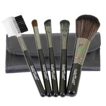 Mini Kit 5 Pincéis Para Maquiagem E Bolsa Macrilan Linha B