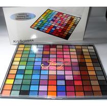 Kit Maquiagem 144 Sombras Mistas, Opacas, 3d E Peroladas