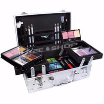 Kit De Maquiagem 3d Jasmyne Ml2-2 58 Itens E Maleta Aluminio