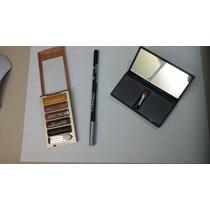 Kit Sombras Gliter + Paleta Sobrancelhas+ Lápis Mac