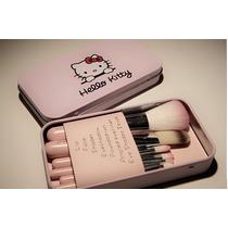 Pinceis Hello Kitty 7 Peças - Importado - Pronta Entrega