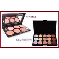Kit Maquiagem Paleta Corretivo Base + Blush Jasmyne Mac Ruby