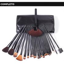 Conjunto Kit Estojo De Pincéis Para Maquiagem 32 Pcs Make Up