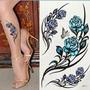Tatuagem Tattoo Temporária Flor Tribal Borboleta