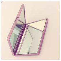 Espelho De Bolsa Rosa Para Brindes, Eventos Kit 10 Unidades