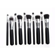 Kit 10 Pinceis Para Maquiagem Kabuki E Precisão = Sigma Mac