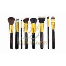 Kit Com 8 Pinceis Macrilan - Linha Gold Profissional