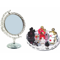 Kit Bandeja P/ Perfumes Cosméticos + Espelho P/ Maquiagem