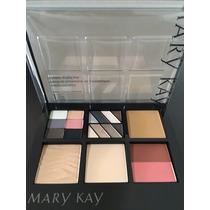 Mary Kay - Estojo Sombras + Base Creme + Pó Iluminador
