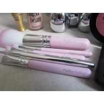 Kit Com 7 Pinceis Da Hello Kitty - Pronta Entrega