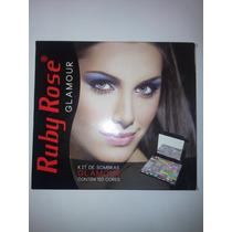 Kit De Sombras- Ruby Rose Glamour- 120 Cores- Original 100%