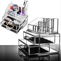 Kit Organizador Maquiagem Acrilico 2 Gavetas P/ Cosméticos