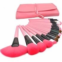 Kit De Pinceis Maquiagem Profissional 24 Pcs Pronta Entrega